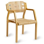 Visitor Chair Kit - 'Devon' 4 Leg w/ Arms (STOCK RUN OUT $46)