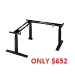 Electric Desk - 3 Leg (Black) *STOCK RUN OUT ONLY $652*